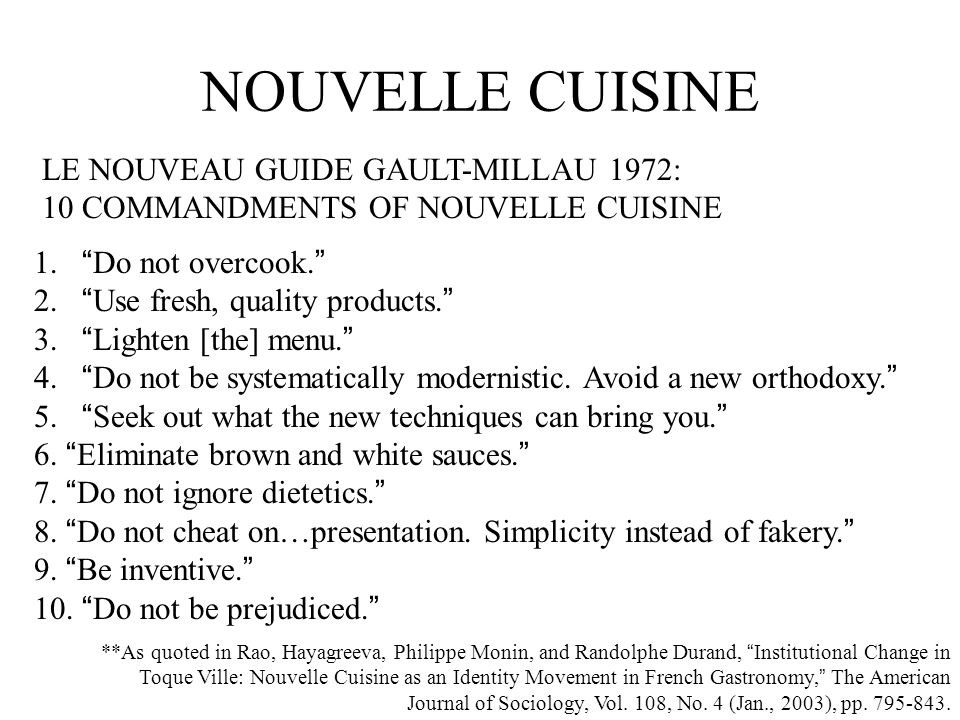 Introduction to gastronomy ppt video online download for American nouveau cuisine