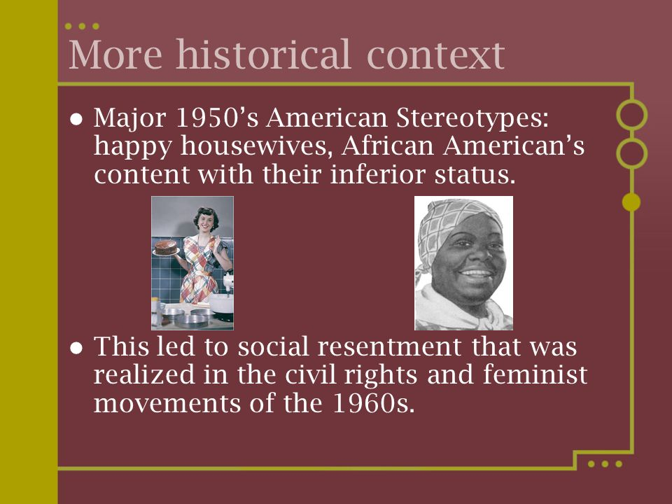 More historical context