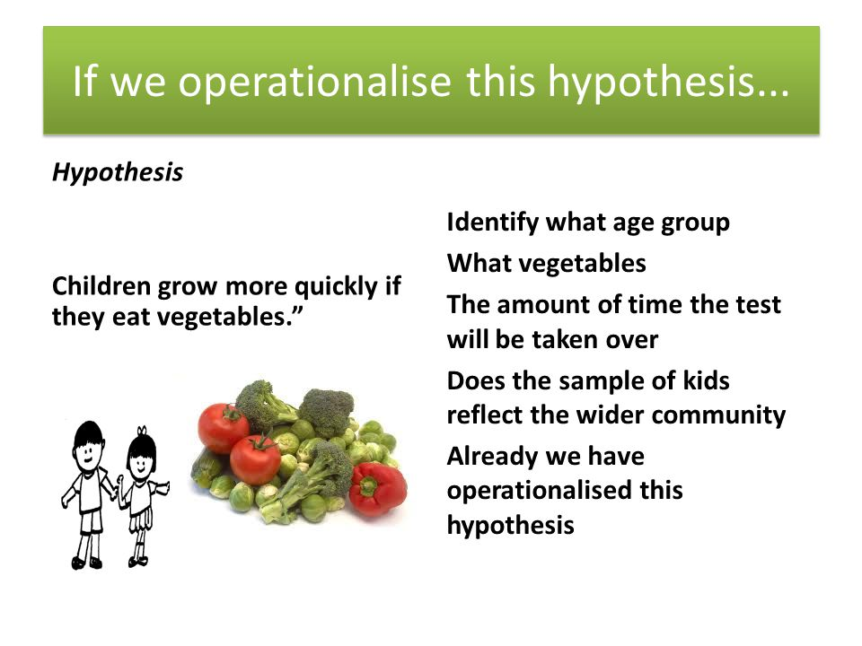 If we operationalise this hypothesis...