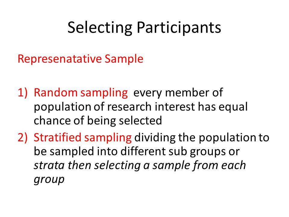 Selecting Participants