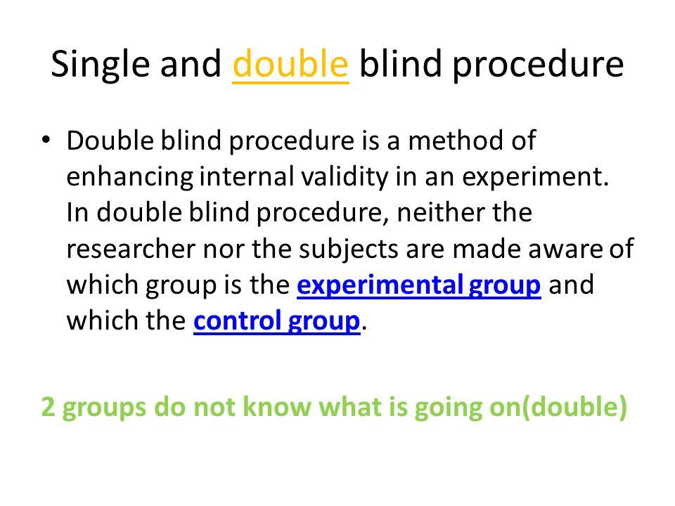 Double-Blind Study | Encyclopedia of Psychology