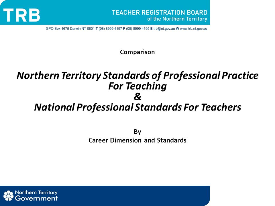 Career Dimension and Standards