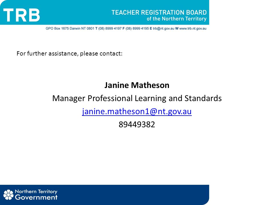 Manager Professional Learning and Standards