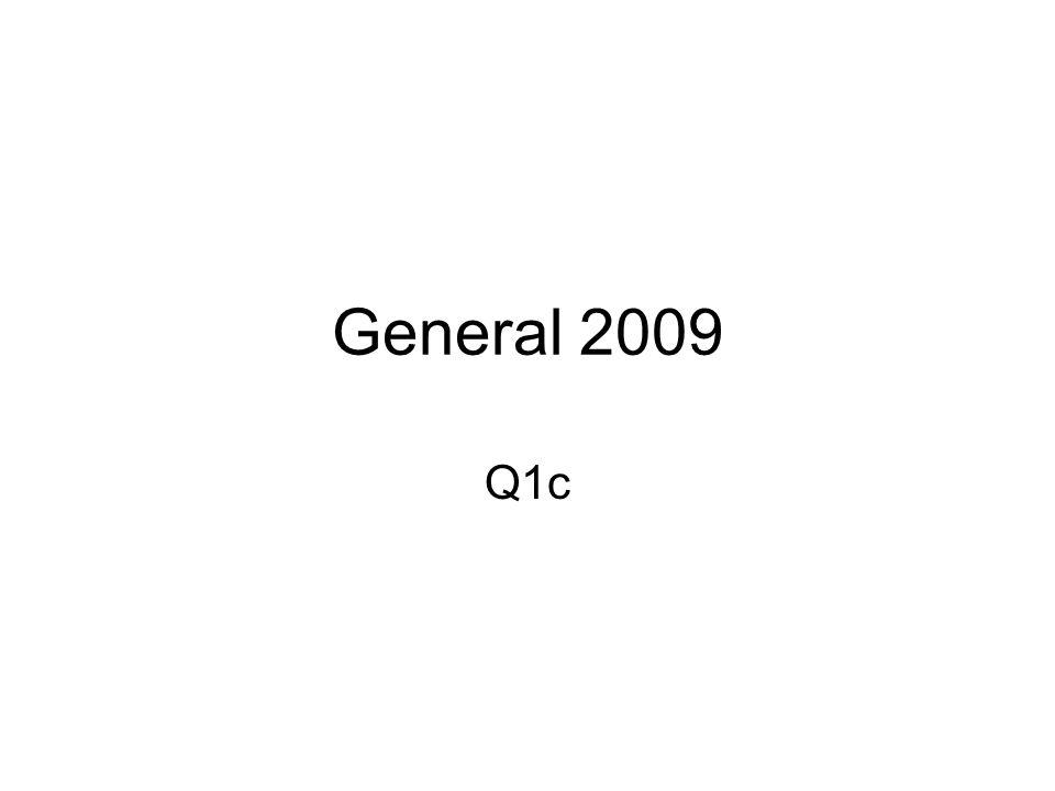 General 2009 Q1c