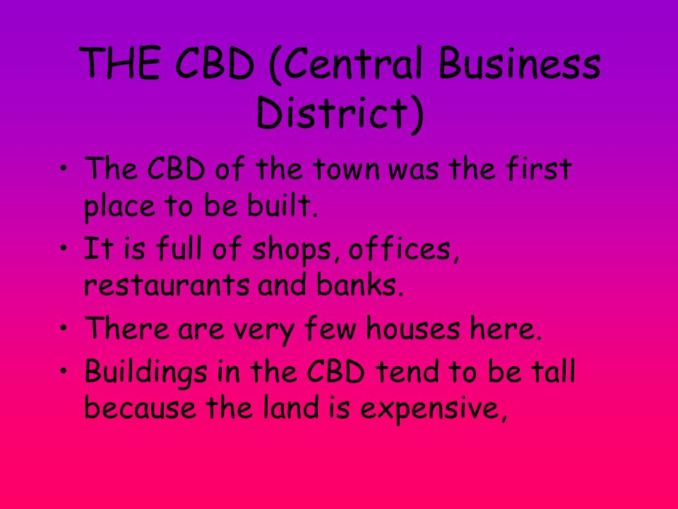 THE CBD (Central Business District)