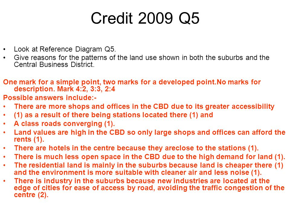 Credit 2009 Q5 Look at Reference Diagram Q5.