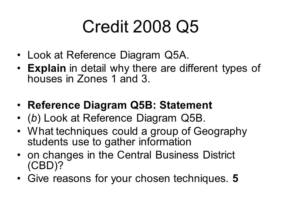 Credit 2008 Q5 Look at Reference Diagram Q5A.