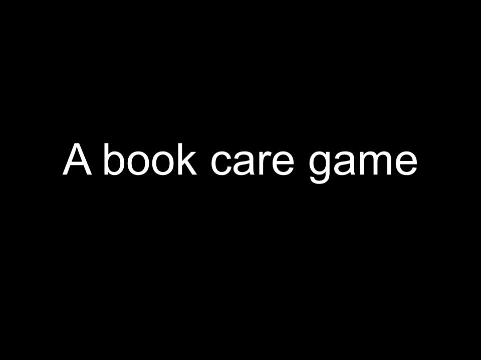 A book care game