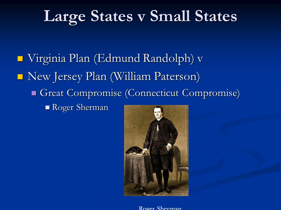 Large States v Small States