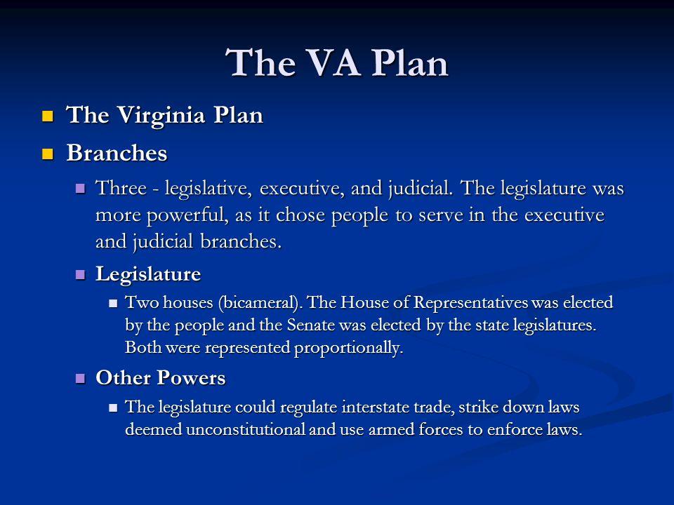 The VA Plan The Virginia Plan Branches