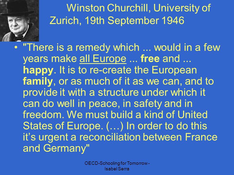 Winston Churchill, University of Zurich, 19th September 1946