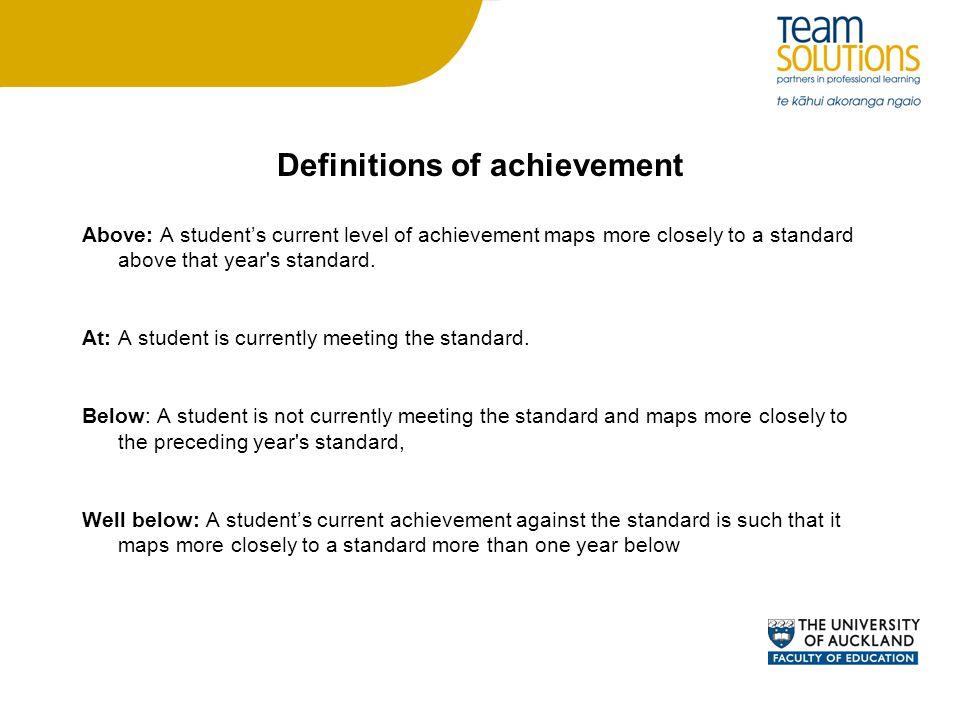 Definitions of achievement
