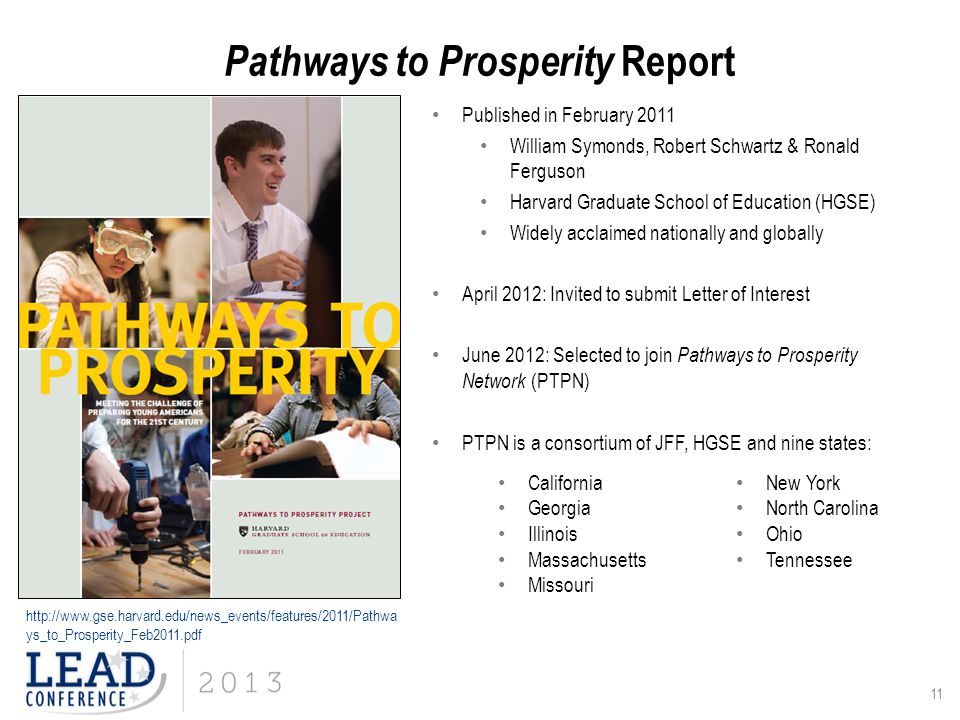 Pathways to Prosperity Report