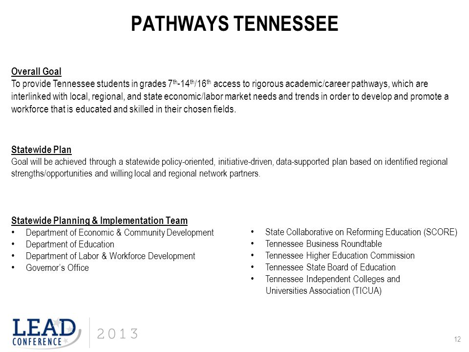 PATHWAYS TENNESSEE Overall Goal
