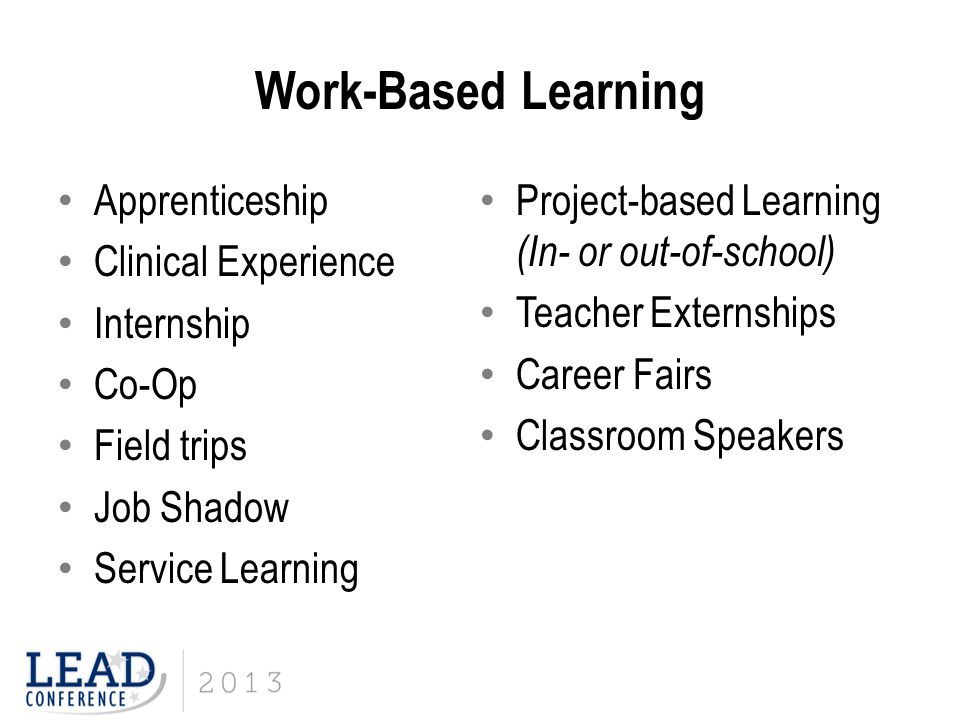 Work-Based Learning Apprenticeship