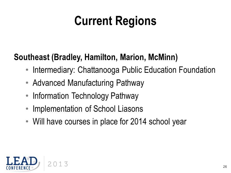 Current Regions Southeast (Bradley, Hamilton, Marion, McMinn)