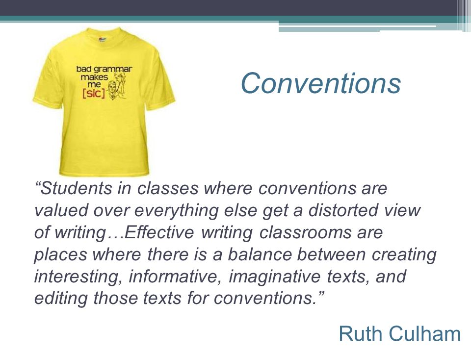 Conventions Ruth Culham