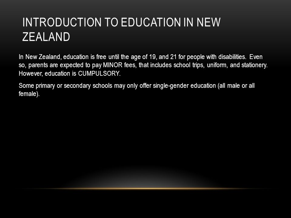 Introduction to Education in New Zealand