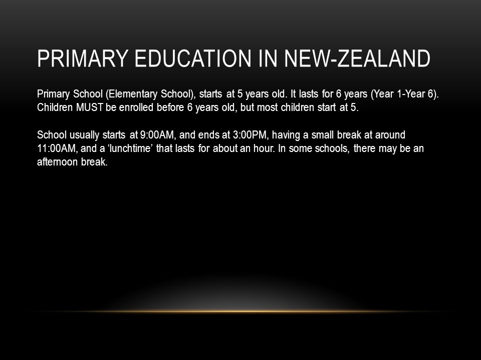 Primary Education in New-Zealand