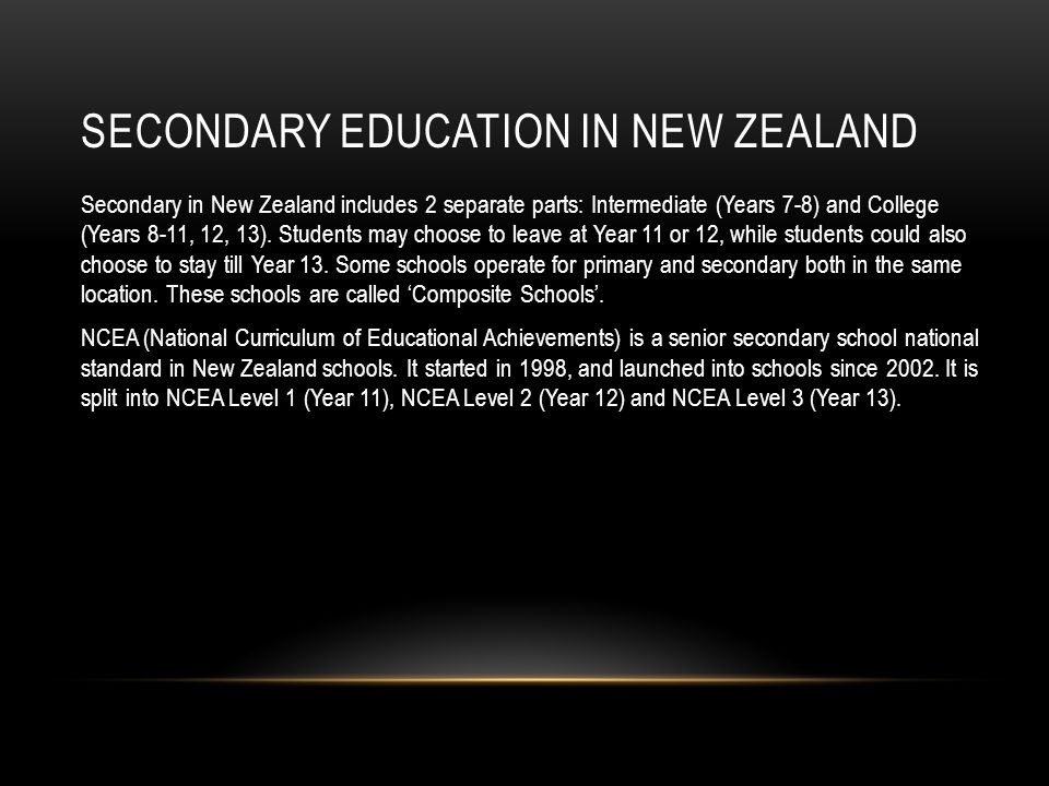 Secondary Education In New Zealand