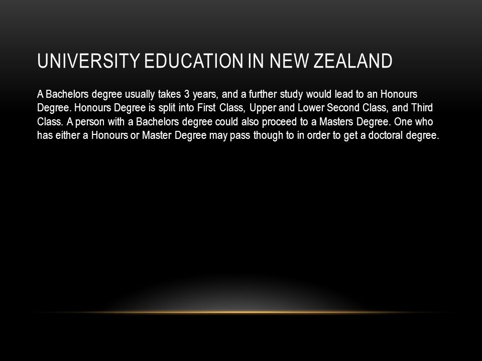 University Education in New Zealand