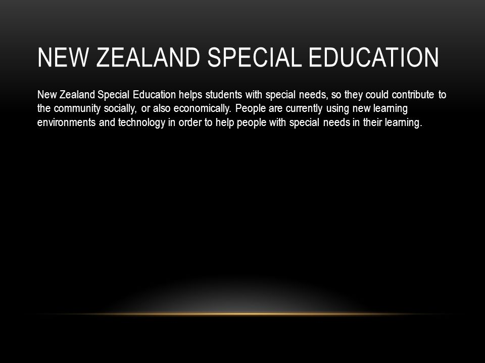 New Zealand Special Education