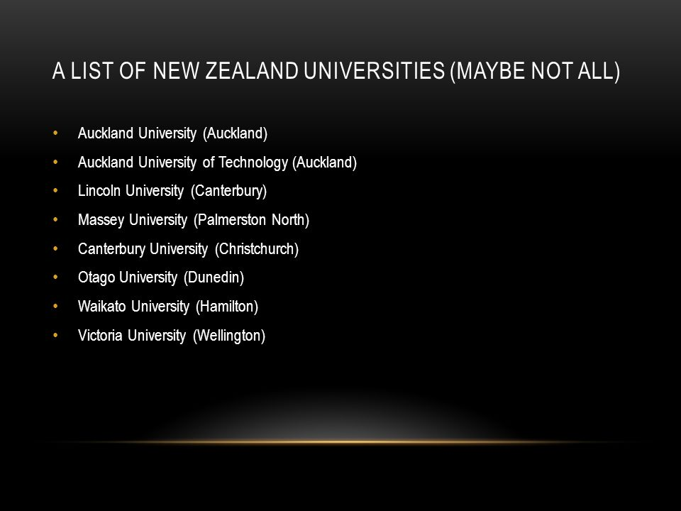 A List of New Zealand Universities (Maybe Not ALL)
