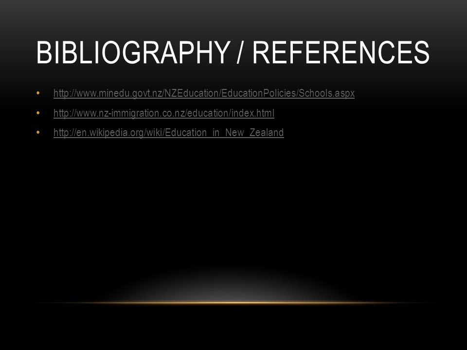 Bibliography / References