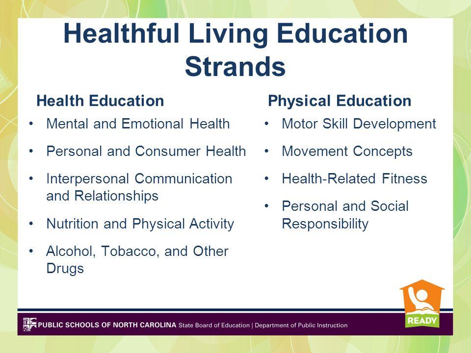 Healthful Living Education Strands