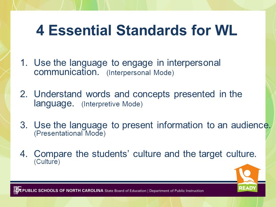 4 Essential Standards for WL
