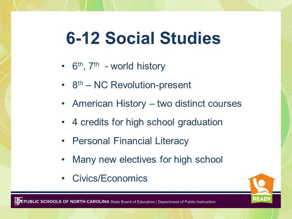 6-12 Social Studies 6th, 7th - world history