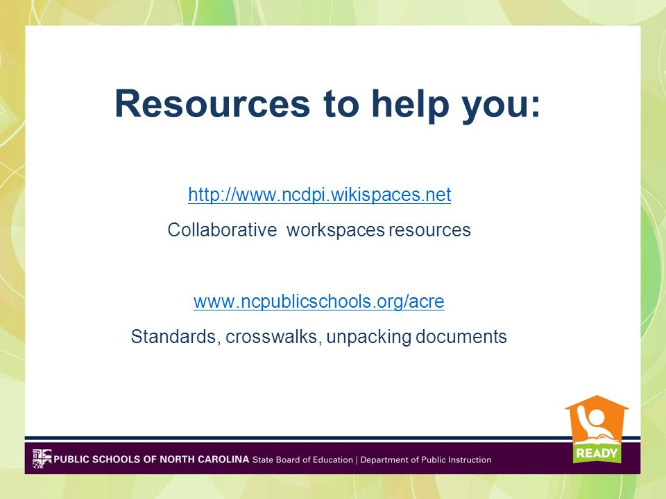 Resources to help you: