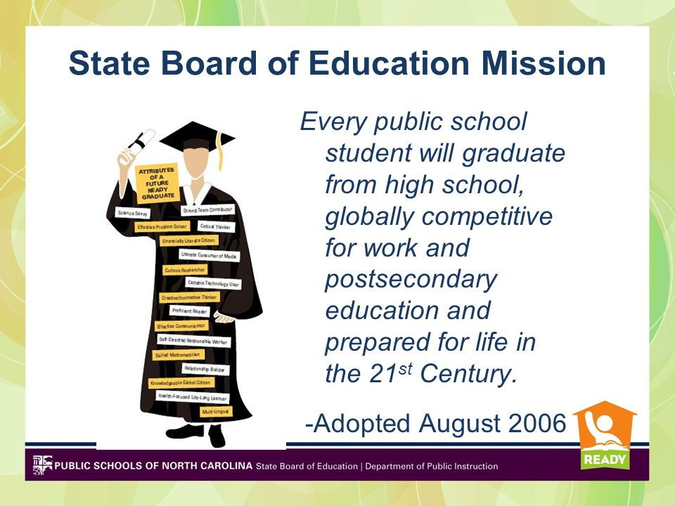 State Board of Education Mission