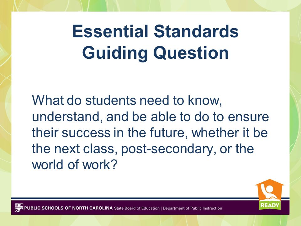 Essential Standards Guiding Question