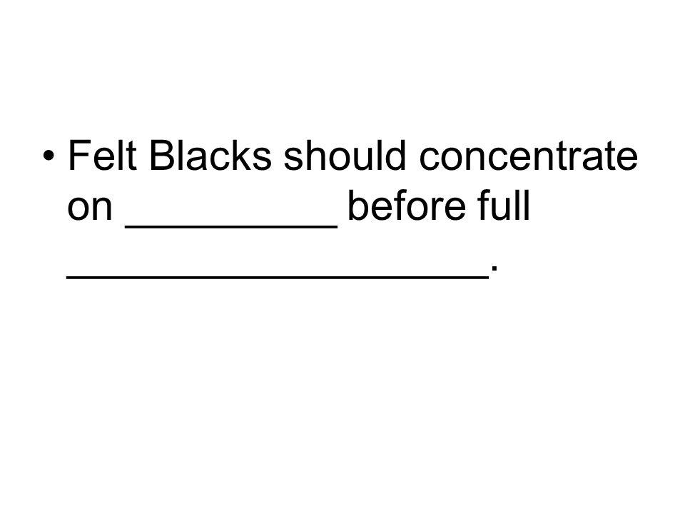 Felt Blacks should concentrate on _________ before full __________________.