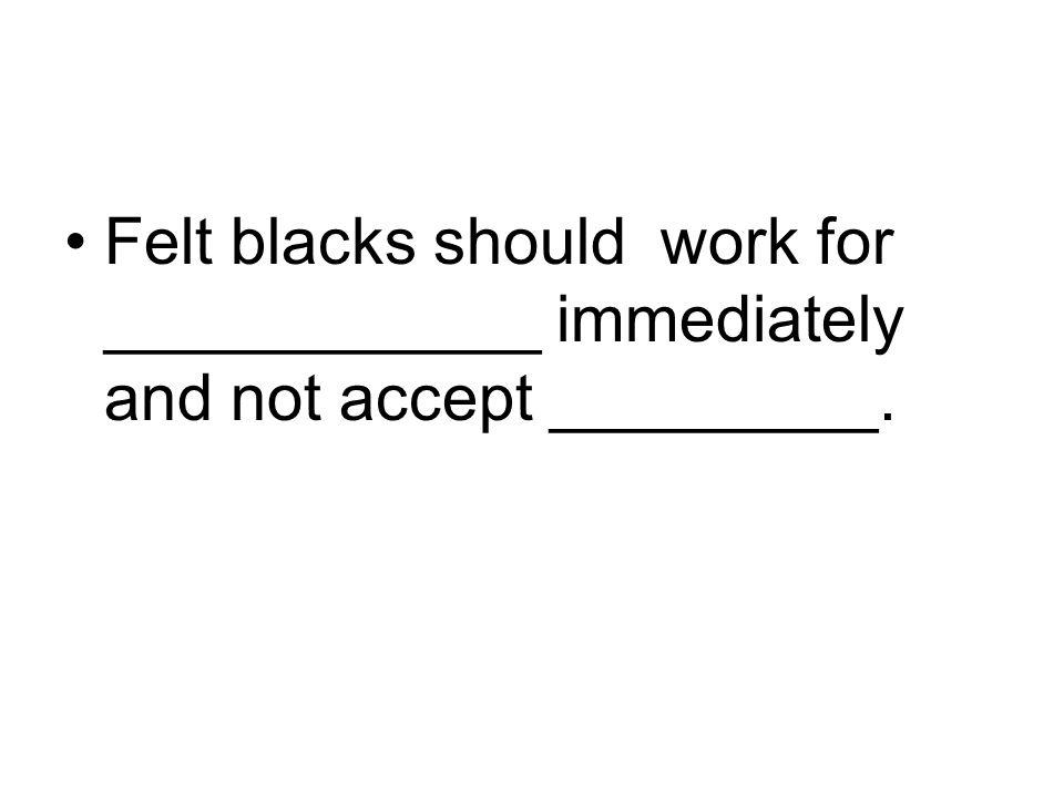 Felt blacks should work for ____________ immediately and not accept _________.