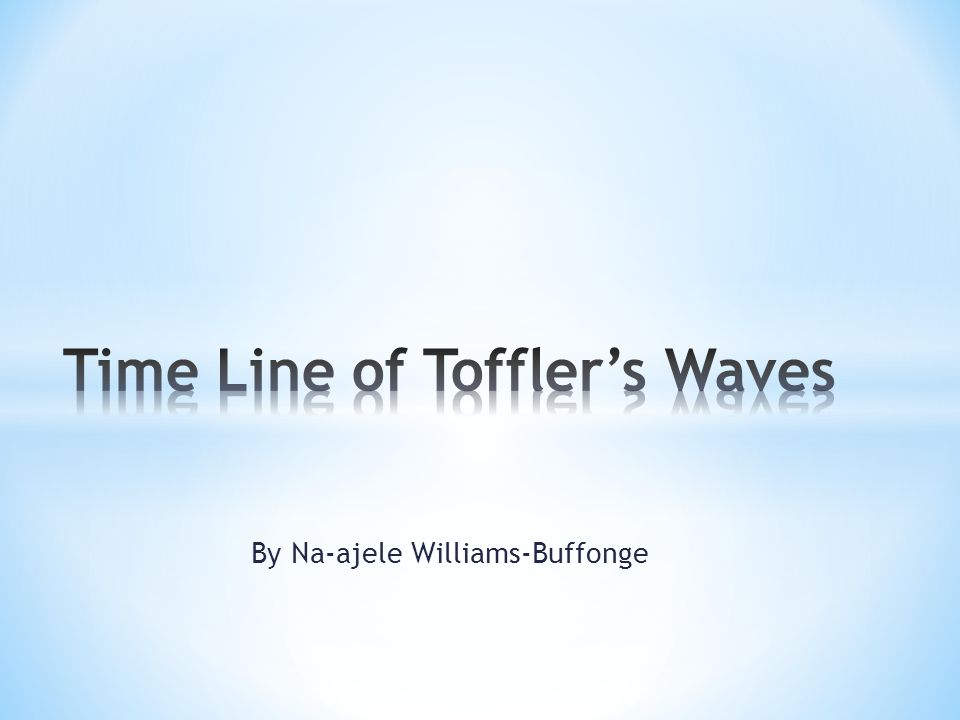 Time Line of Toffler's Waves