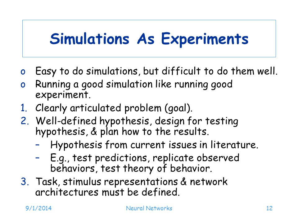 Simulations As Experiments