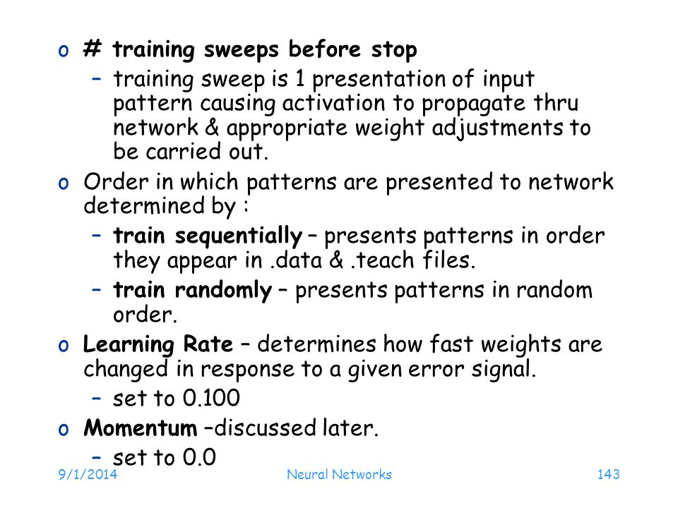 # training sweeps before stop