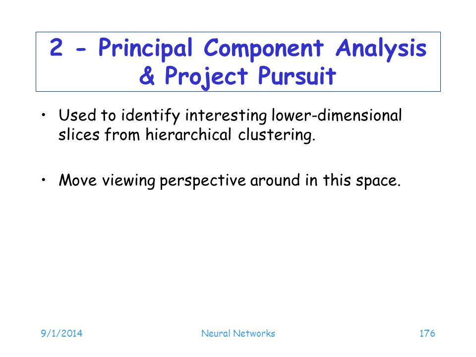 2 - Principal Component Analysis & Project Pursuit