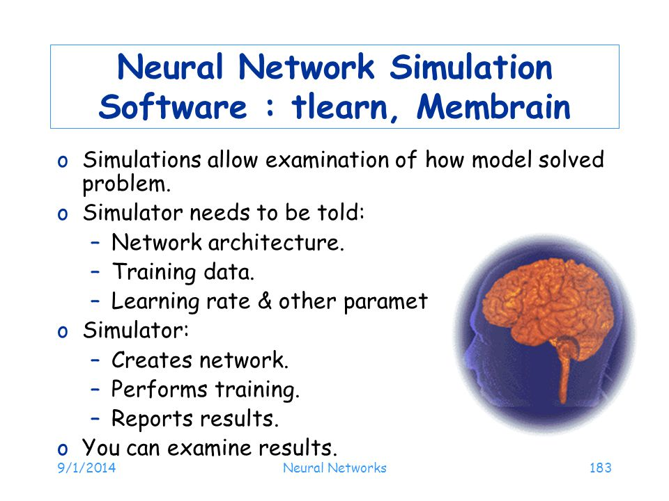 Neural Network Simulation Software : tlearn, Membrain
