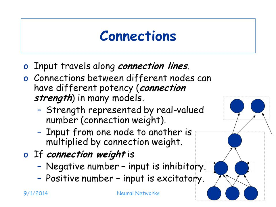 Connections Input travels along connection lines.