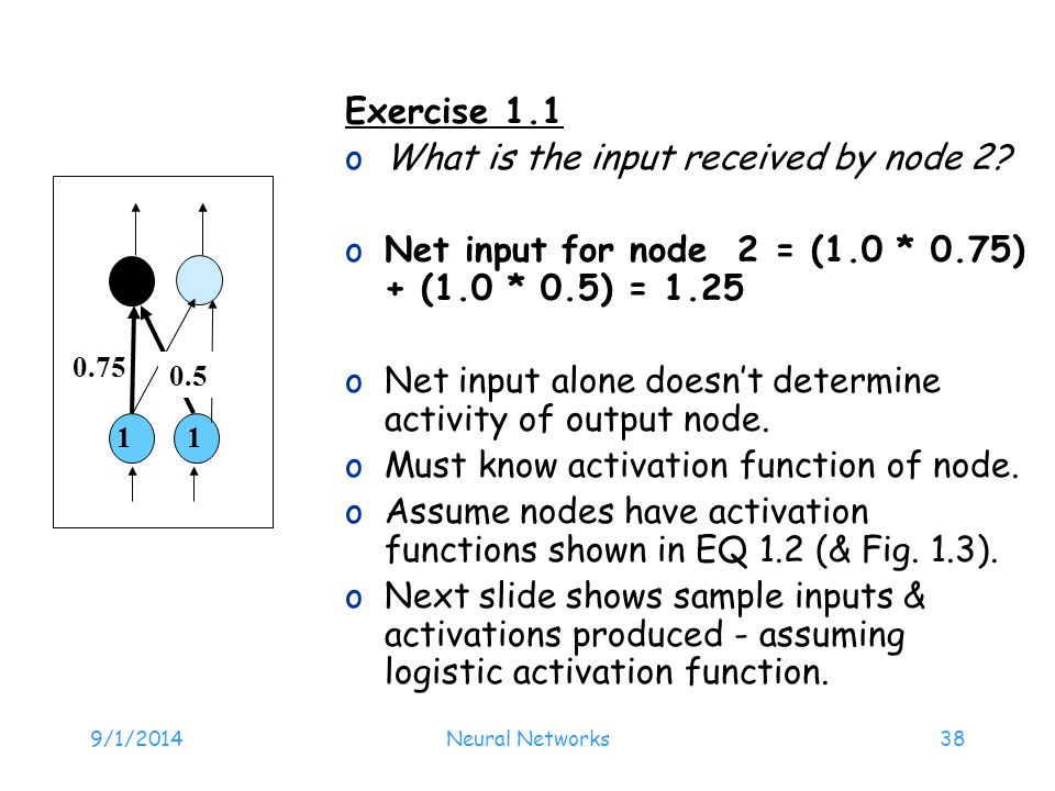 What is the input received by node 2