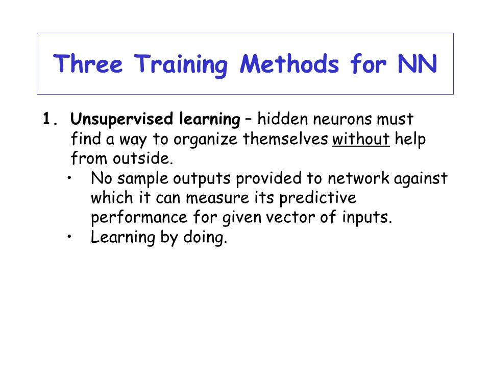 Three Training Methods for NN