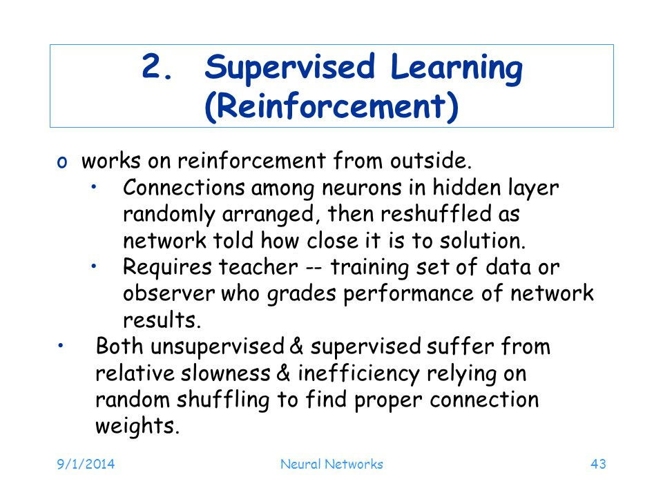 2. Supervised Learning (Reinforcement)