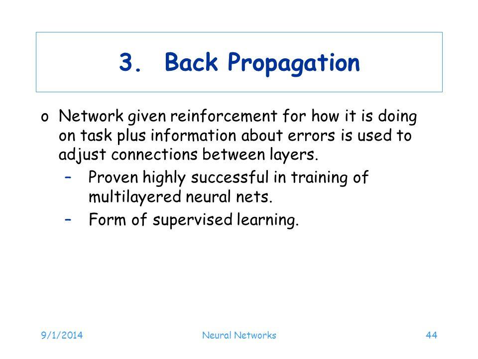 3. Back Propagation