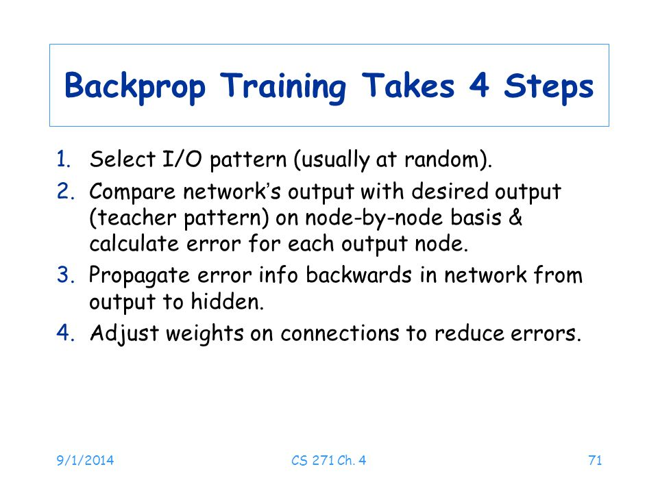 Backprop Training Takes 4 Steps