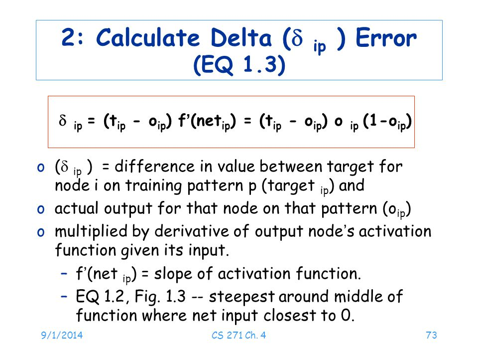 2: Calculate Delta ( ip ) Error (EQ 1.3)
