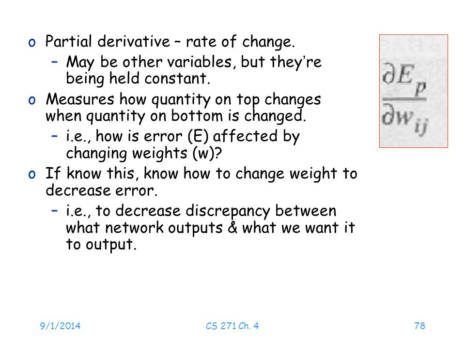 Partial derivative – rate of change.