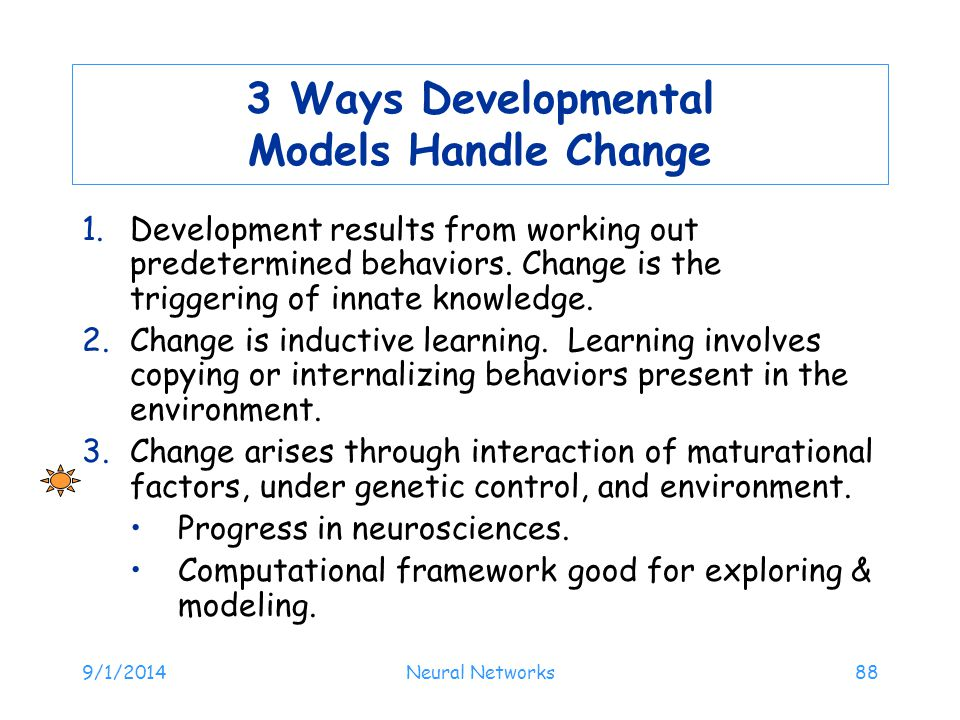 3 Ways Developmental Models Handle Change